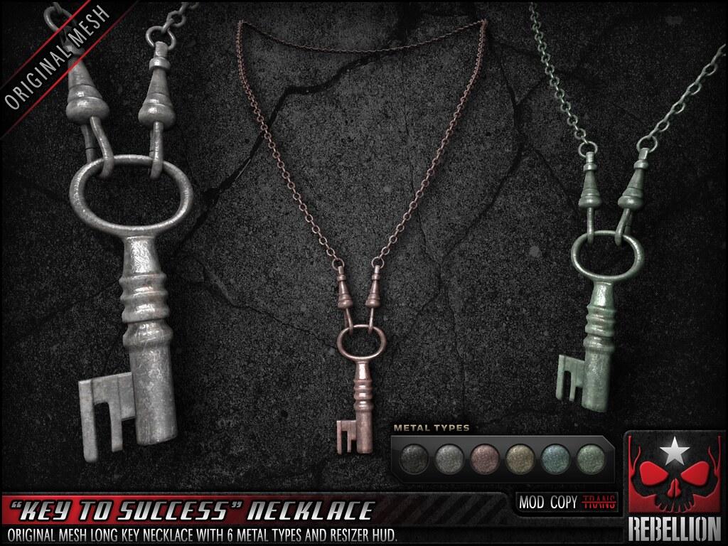 Rebellion KEY_TO_SUCCESS_NECKLACE_SIGN - SecondLifeHub.com