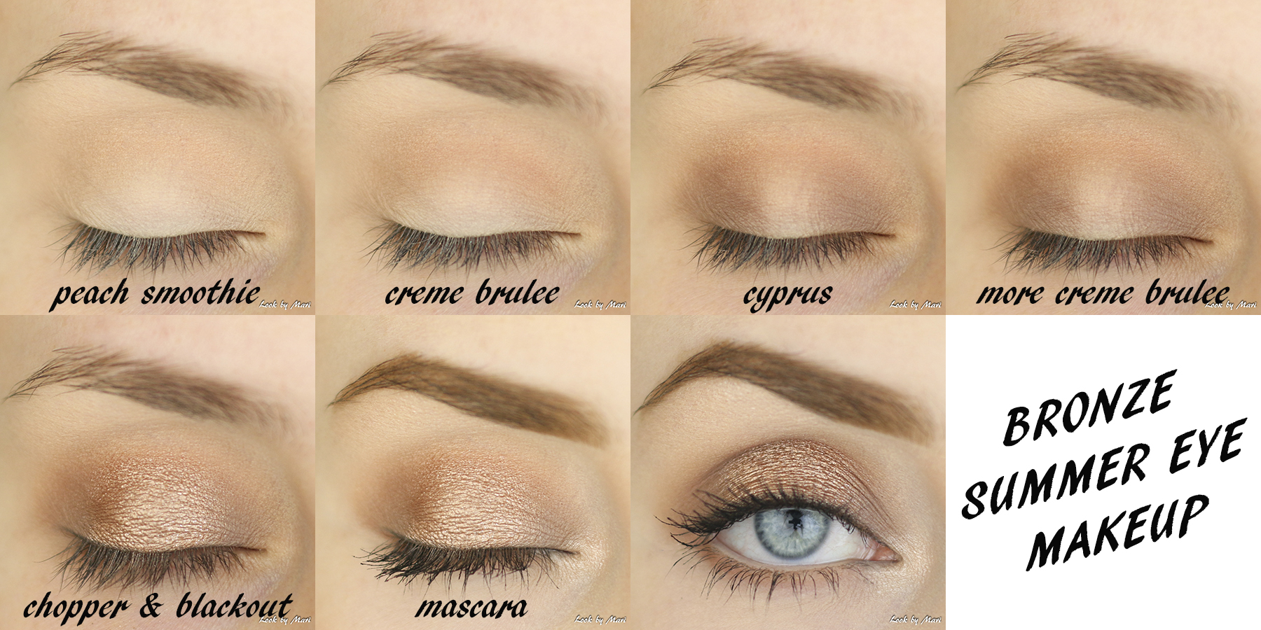 4 bronzy bronze eye makeup tutorial for beginners easy blog