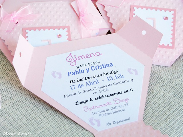 INVITACIONES BAUTIZO MERBO EVENTS