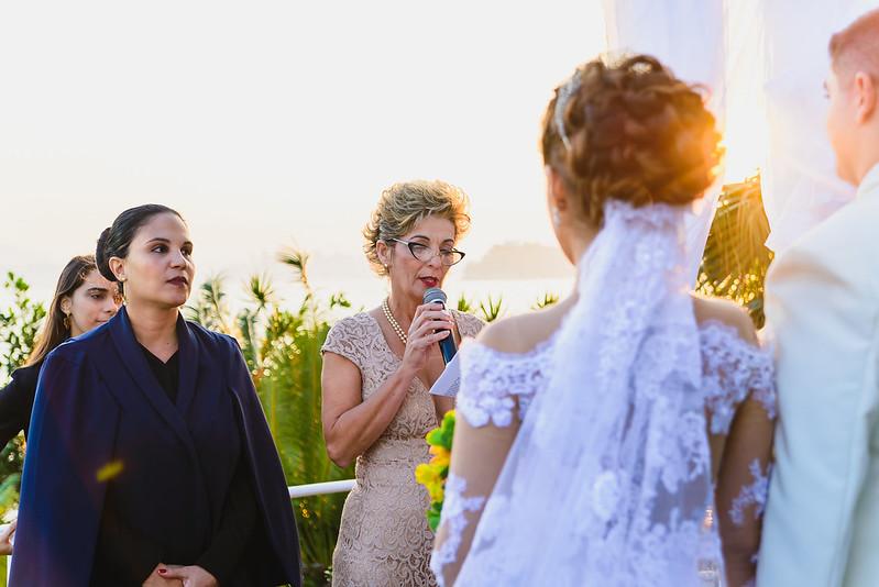 Momentos da cerimônia