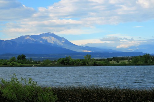 lathropstatepark walsenburgcolorado walsenburg colorado lake mitchell mountain mountains clouds spanishpeaks