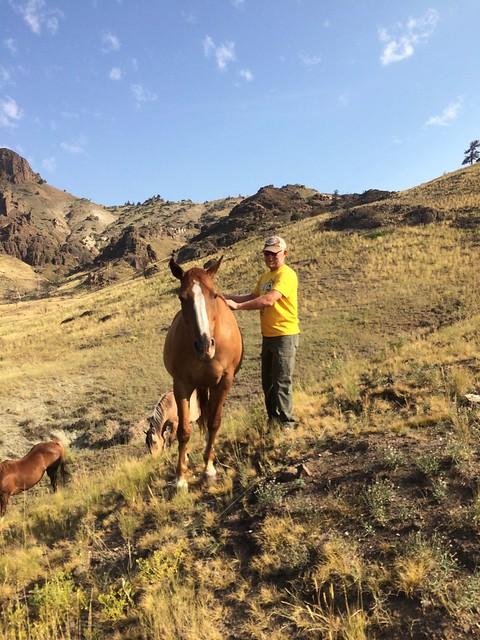 Cody Tony with horse