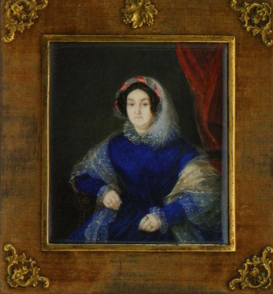 Н. Д. Шпревич, женский портрет, 1847