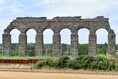 The ancient Aqua Claudia Aqueduct (38-52 AD), Park of the Aqueducts, Rome