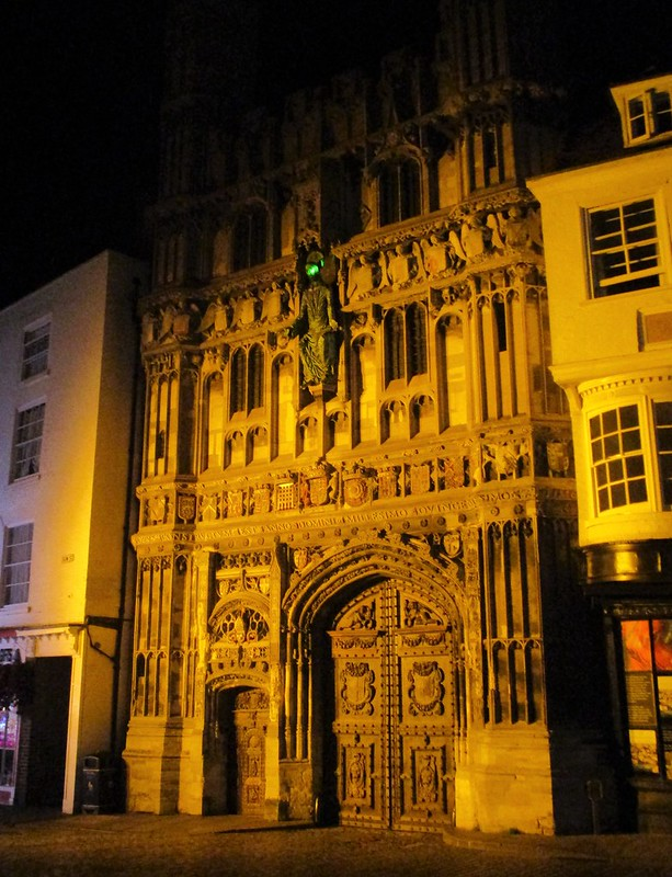 Canterbury Cathedral Gate by Night