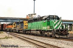 BNSF 8071 | EMD SD40-2 | BNSF Thayer South Subdivision