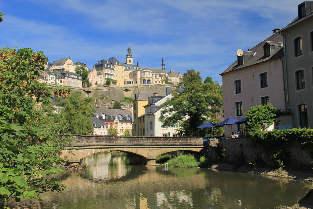 Along the water's edge, Grund, Luxembourg City