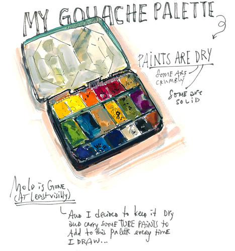 Sketchbook #105: Tools - Gouache Palette