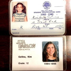 Look what I found cleaning out my childhood bedroom! My ID cards from kindergarten and senior year of high school :heart_eyes::heart_eyes::heart_eyes: So fun to have these little surprises every summer when I'm home! #throwbackthursday #tbt #nowimold