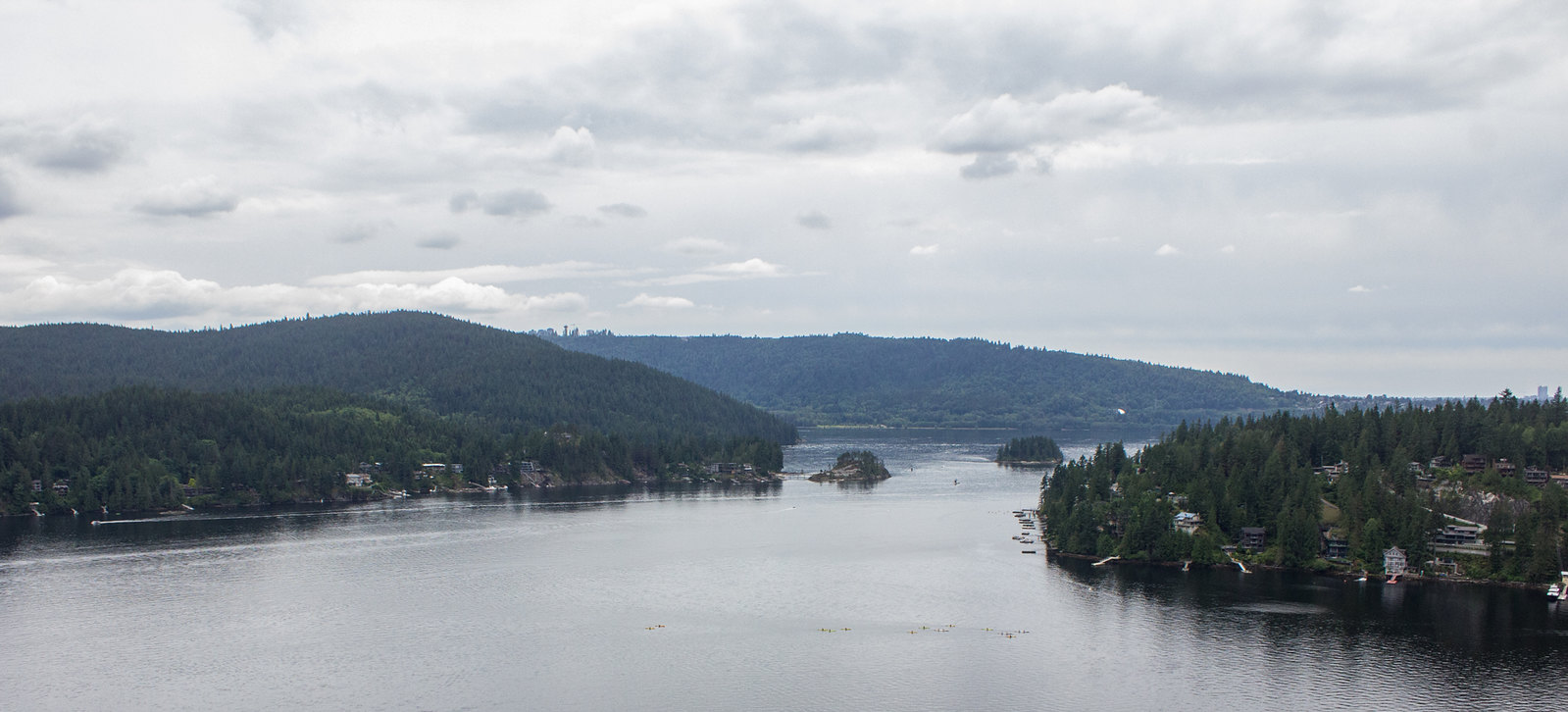 View over Deep Cove from Quarry Rock