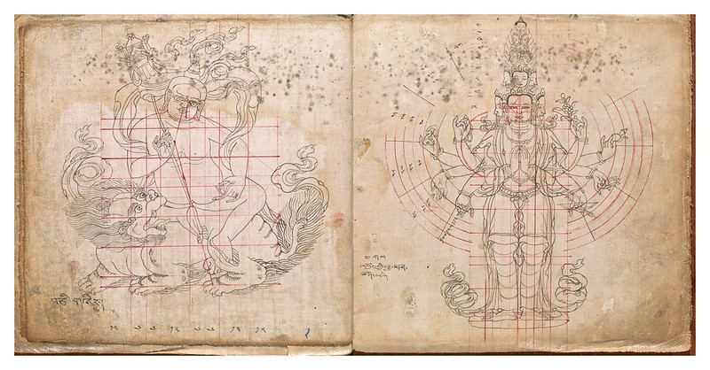 008-Tibetan pattern book of proportions- Getty Digital Collections