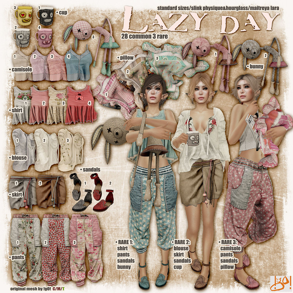 !gO! Lazy Day - gacha key - SecondLifeHub.com