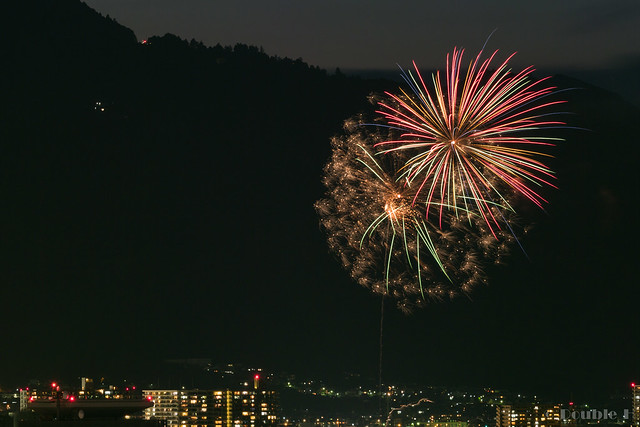 distant view of Biwako Fireworks Festival 2017 (1)