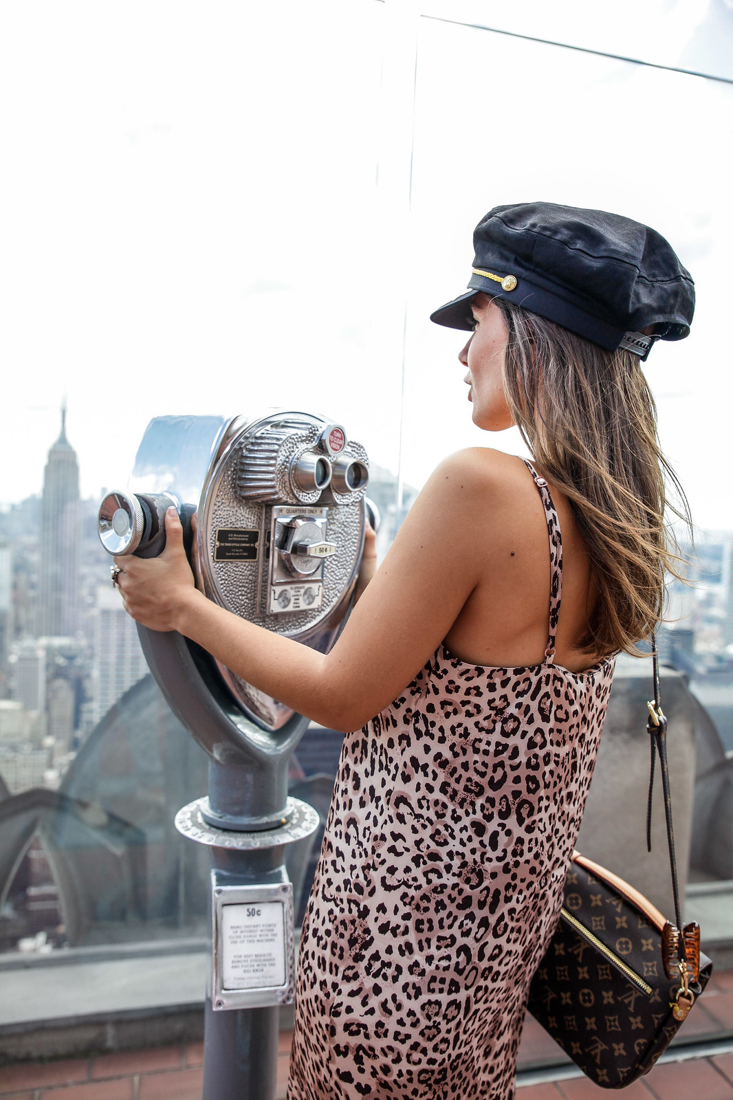 top of the rock best photo new york influencers fashion week NYFW NA-KD street style fashion outfit nueva york leopardo gorra marinera tendencia invierno nuevo 2018 moda noholita dulceida collagevintage ninauc gigivives theguestgirl look and chic the guest girl