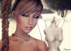 Sabrymoon with JUMO Beauty Kendall Skin Eyeshadow Lips and -:zk:- Zara Kent Snake Collar Necklace