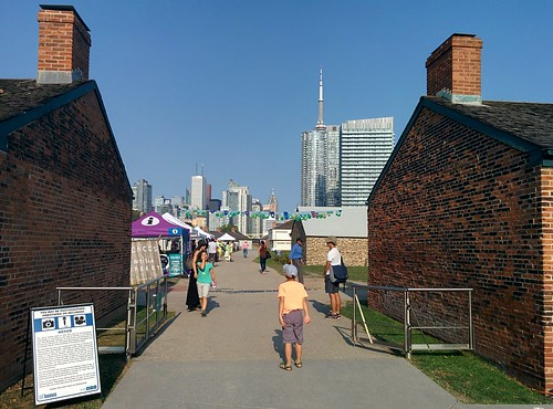 At Fort York underneath the city (7) #toronto #fortyork #skyline #tower #gardinerexpressway