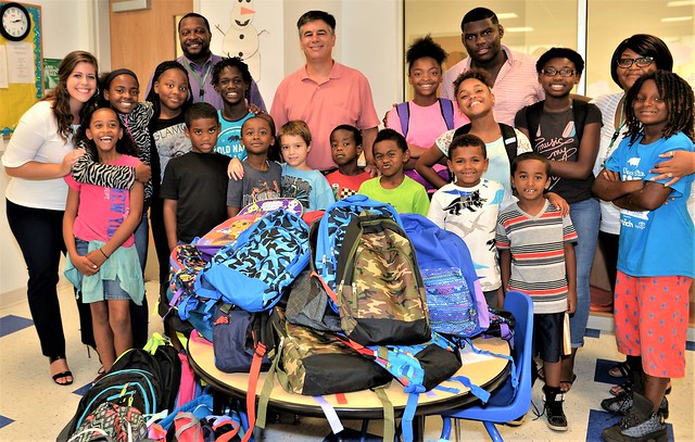 WilmU Dover Donates Back-to-School Backpacks