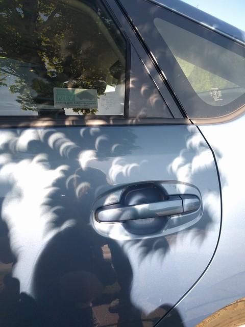 Eclipse Shadows on the Car
