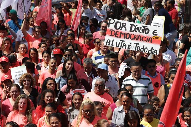 Ato acontecerá às 11h em frente ao prédio da Eletrobras, na Avenida Presidente Vargas - Créditos: Paulo Pinto/AGPT