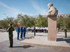 Expedition 53-54 Back Crew Members Visit Sergey Korolev's Statue