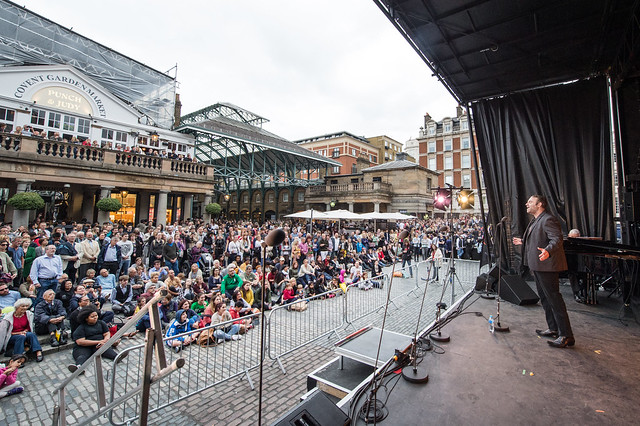 Out Loud, Joseph Calleja on stage in Covent Garden piazza