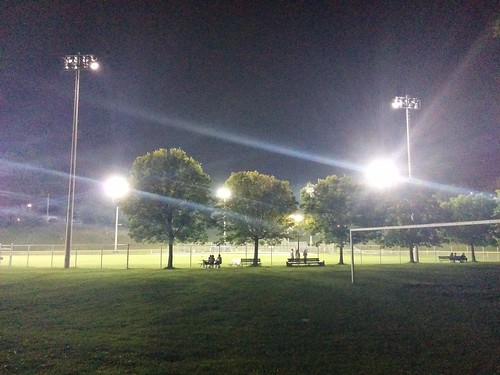 Field of dreams #toronto #christiepit #seatonvillage #night #lights #baseball