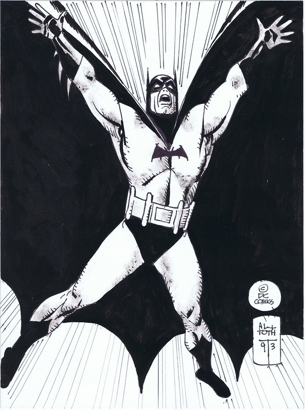Alex Toth Batman 1995 pinup
