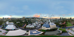 The Makiki Neighborhood - Sunset over Honolulu, Hawai'i  - a 360° Aerial Equirectangular VR