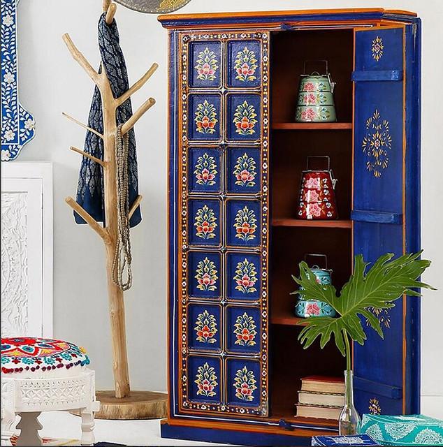 almirah with Indian motifs