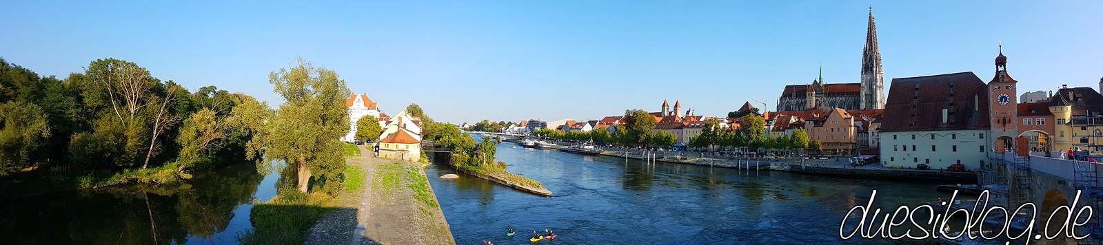 Regensburg Steinerne Brücke Donauufer Travelblog duesiblog 27