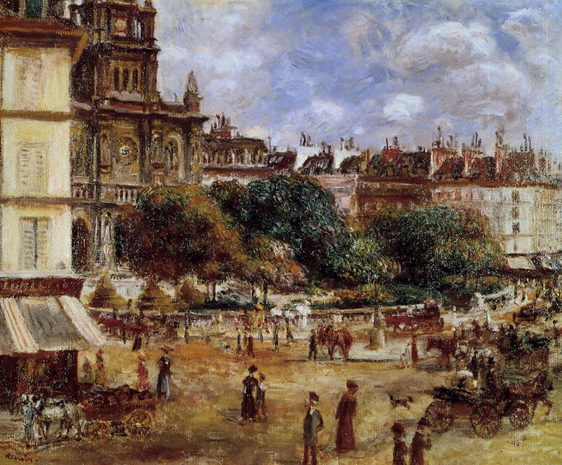 Place de la Trinite, Paris by Pierre Auguste Renoir, 1875