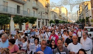 La grande adesione dei cittadini alla manifestazione dello scorso  18 luglio