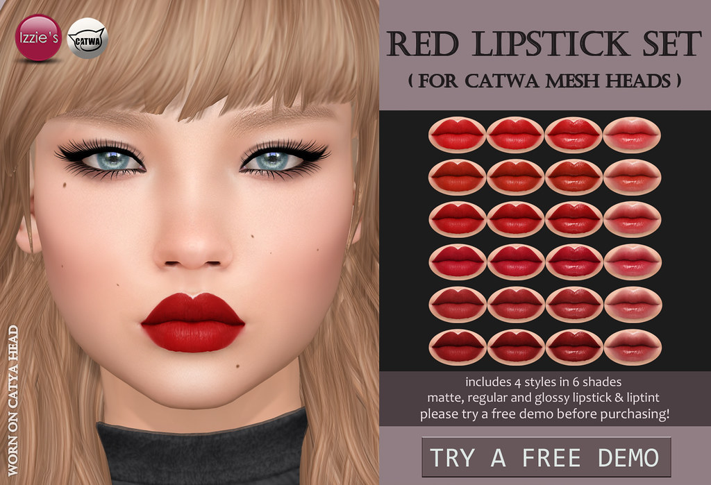 Red Lipstick Set Catwa (for FLF) - TeleportHub.com Live!