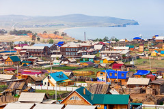 Village de Khoujir sur l'île d'Olkhon