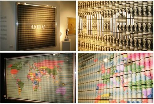 Money Artist Santiago Montoya mosaics1
