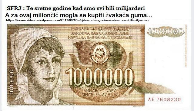 SFRJ : Te sretne godine kad smo svi bili milijarderi