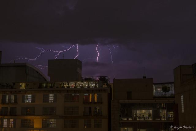 Lightning On Mexico City