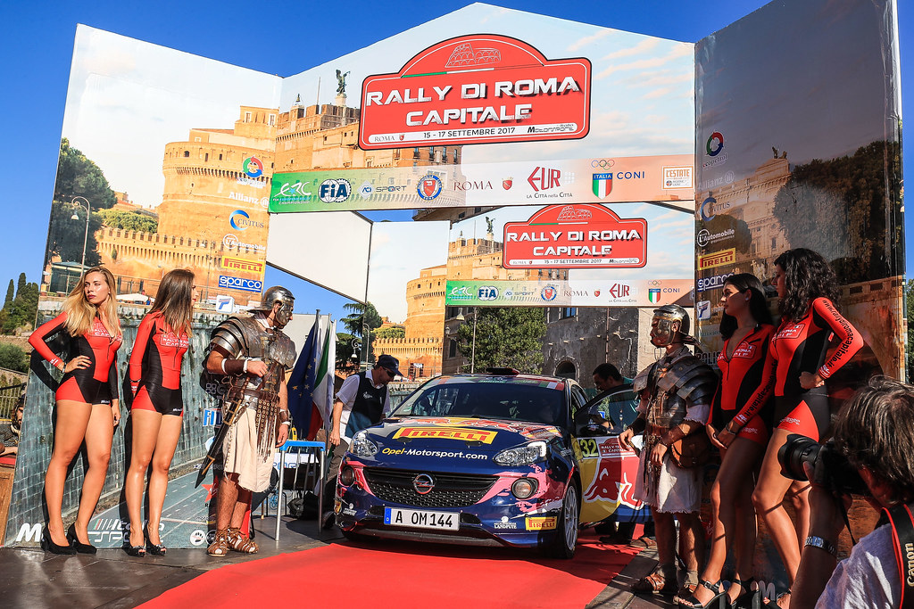 32  MOLINARO Tamara (ITA) BERNARCCHINI  GIOVANNI (ITA)  Opel Adam R2 start during the 2017 European Rally Championship ERC Rally di Roma Capitale,  from september 15 to 17 , at Fiuggi, Italia - Photo Jorge Cunha / DPPI