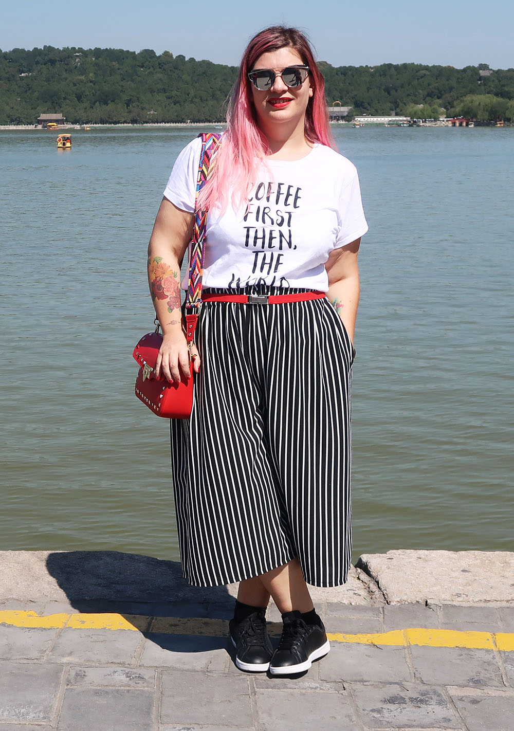outfit plus size con culottes handmade donald stanley e shirt (8)