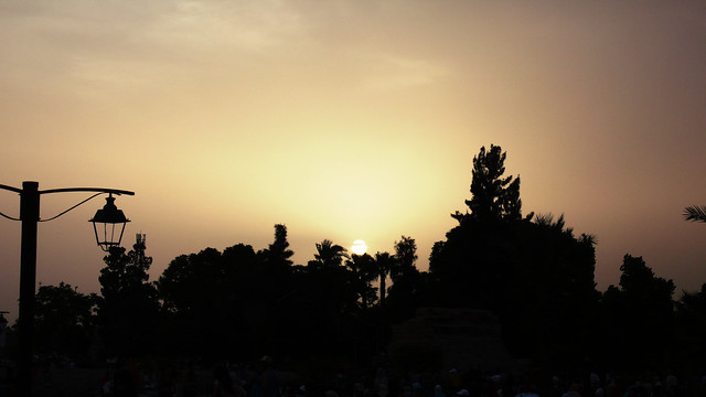 Sunsets over Marrakech