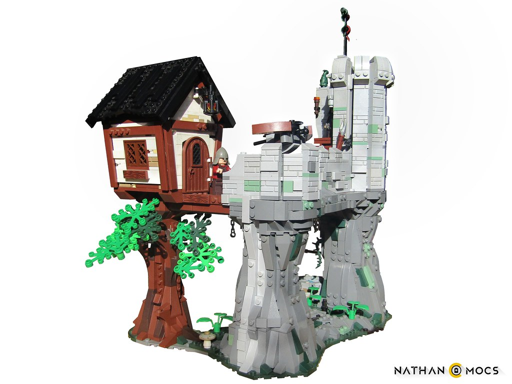 Lookout fortress in the stone ravines of Agradath (custom built Lego model)