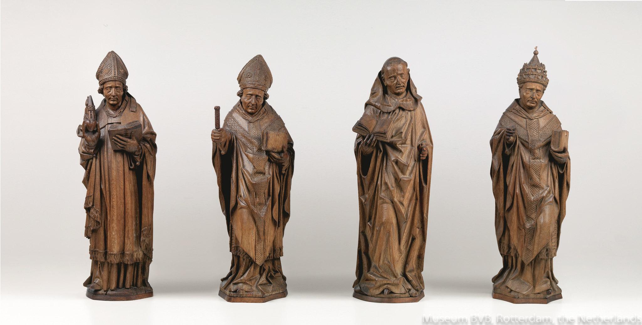 アルント・ファン・ズヴォレ(推定)《「四大ラテン教父(聖アウグスティヌス、聖アンブロシウス、聖ヒエロニムス、聖グレゴリウス)》(1480年)