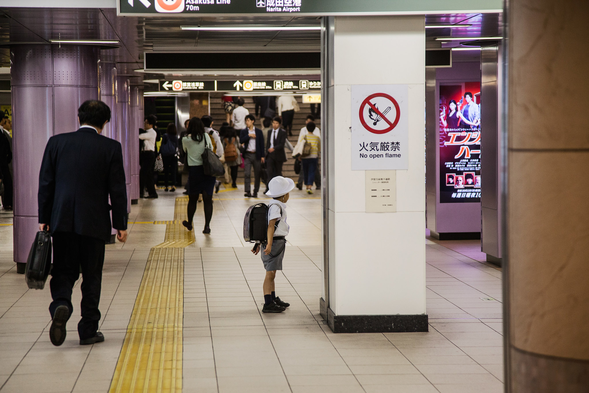 independent kid taking the subway alone