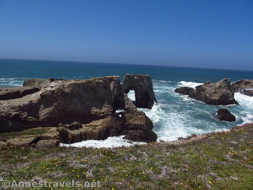 Sea arches in Point Arena-Stornetta National Monument, California