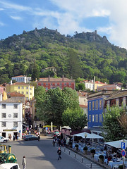 SINTRA, PORTUGAL - view of the town/ СИНТРА, ПОРТУГАЛИЯ - вид на город