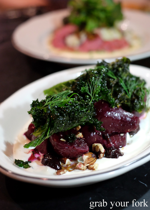 Wood roasted beetroot salad at Porteno in Surry Hills
