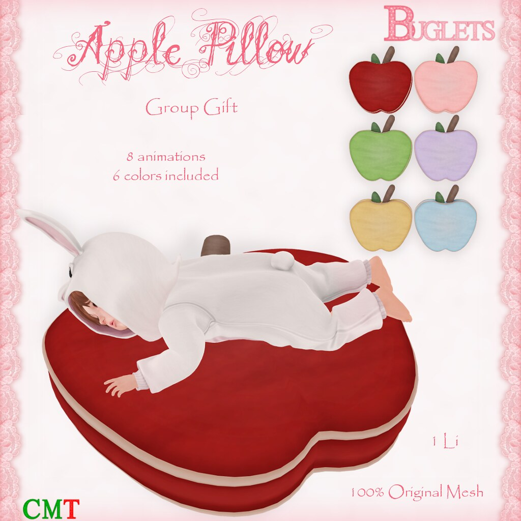 Apple Pillow GG AD - SecondLifeHub.com