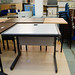 Grey laminate study desk E45