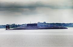 "Russian submarine Dmitriy Donskoi (TK-208) in Kronshtadt. ПЛАРБ ""Дмитрий Донской"" в Кронштадте."