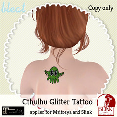 Bleat - Cthulhu Glitter Tattoo